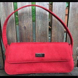 Gucci red leather handbag